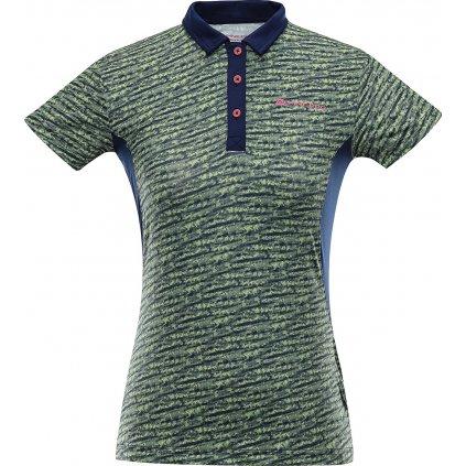 Dámské polo triko ALPINE PRO Istasa 2 zelená