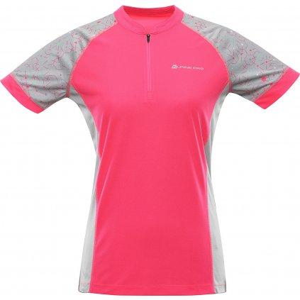 Dámský cyklo dres ALPINE PRO Sorana růžová