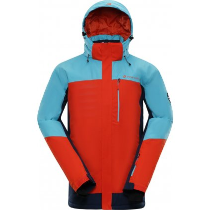 Pánská lyžařská bunda ALPINE PRO Sardar 3 modrá/červená