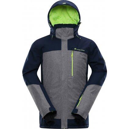 Pánská lyžařská bunda ALPINE PRO Sardar 3 modrá/šedá