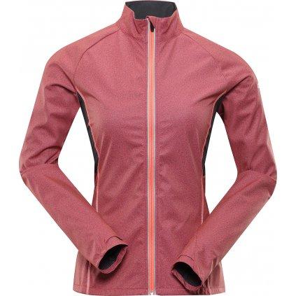Dámská softshellová bunda ALPINE PRO Technica 2 růžová