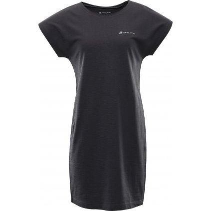 Dámské bavlněné šaty ALPINE PRO Tena černá