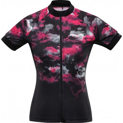 Dámský cyklo dres ALPINE PRO Marka černá