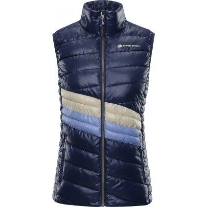 Dámská vesta ALPINE PRO Quanna 2 modrá