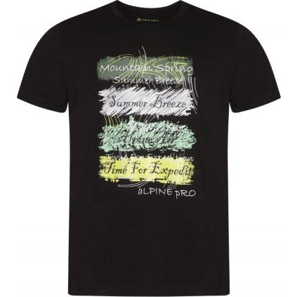 Pánské triko ALPINE PRO Gang černá