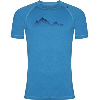 Pánské merino triko ALPINE PRO Merin modrá