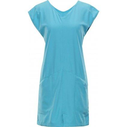Dámské šaty ALPINE PRO Vakia 2 tyrkysová