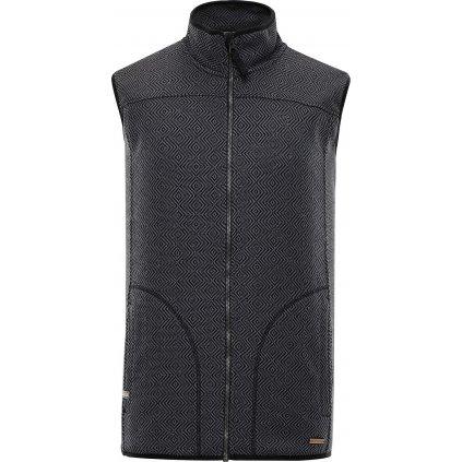 Pánská fleecová vesta ALPINE PRO Awot 2 černá