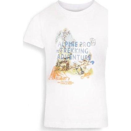 Dětské triko ALPINE PRO Axiso 3 bílá