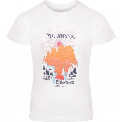 Dětské triko ALPINE PRO Mattero 2 bílá