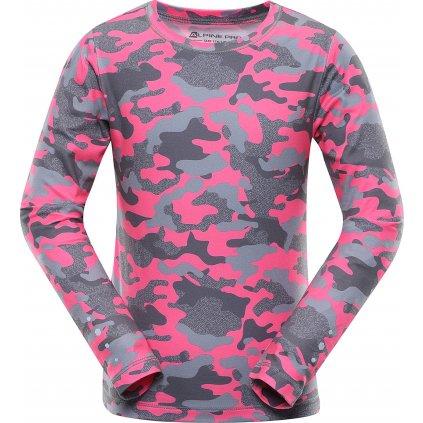 Dětské triko ALPINE PRO Teofilo 9 růžová