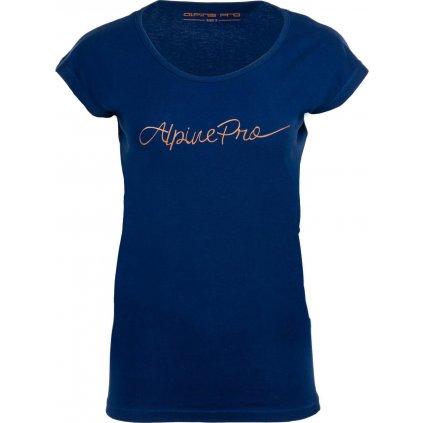 Dámské bavlněné triko ALPINE PRO Lakyla modrá
