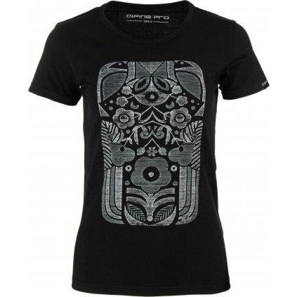 Dámské bavlněné triko ALPINE PRO Starka černá