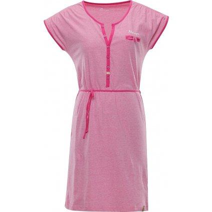 Dámské šaty ALPINE PRO Berka růžová
