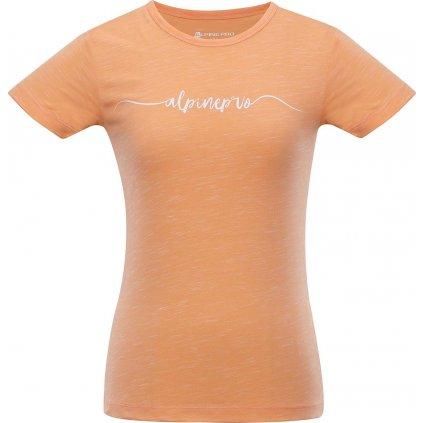Dámské bavlněné triko ALPINE PRO Rozena 5 oranžová