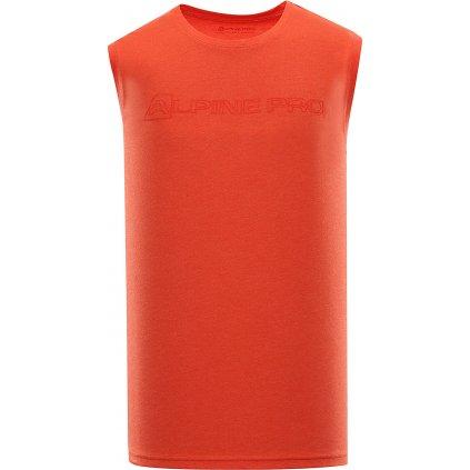 Pánské triko bez rukávu ALPINE PRO Houdin 2 červená