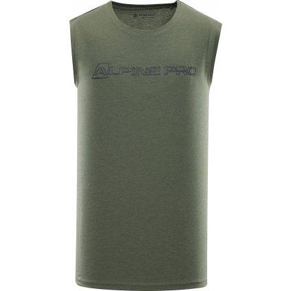 Pánské triko bez rukávu ALPINE PRO Houdin 2 zelená