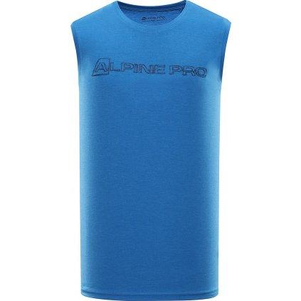 Pánské triko bez rukávu ALPINE PRO Houdin 2 modrá