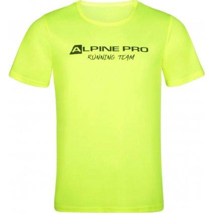 Pánské funkční triko ALPINE PRO Runn žlutá
