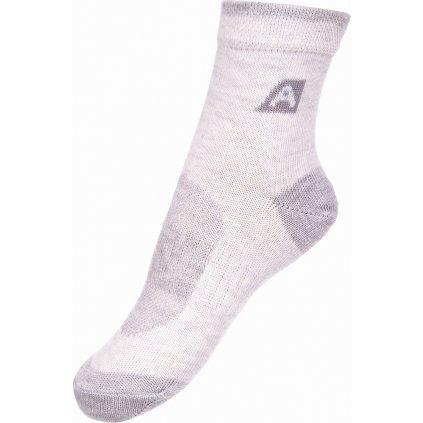 Dětské ponožky ALPINE PRO 3 páry 3rapid 2 bílá