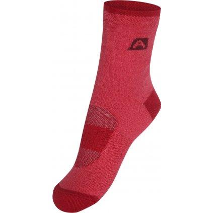 Dětské ponožky ALPINE PRO Rapid 2 červená