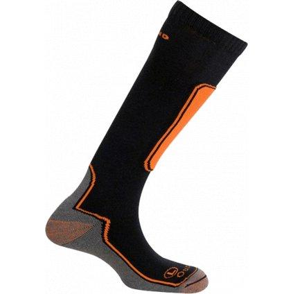 Lyžařské merino ponožky MUND Skiing Outlast oranžovo/černé