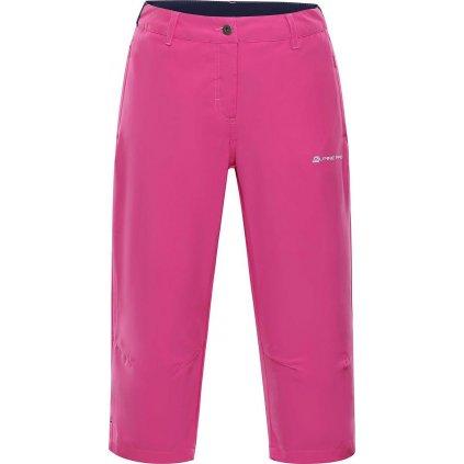 Dámské capri kalhoty ALPINE PRO Kadeka 2 růžová