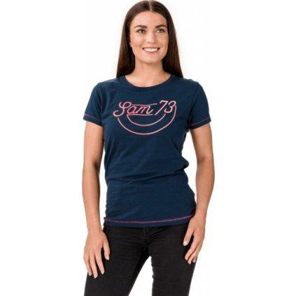Dámské bavlněné triko SAM 73 Cerina modrá