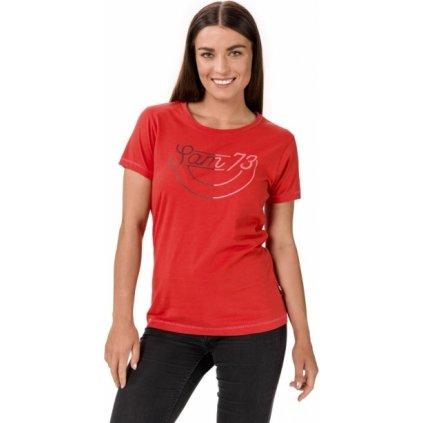 Dámské bavlněné triko SAM 73 Cerina červená