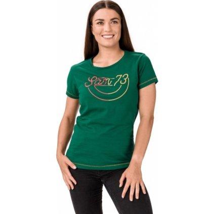 Dámské bavlněné triko SAM 73 Cerina zelená