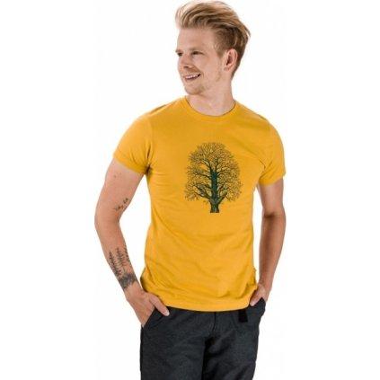 Pánské bavlněné triko SAM 73 Carnac žlutá