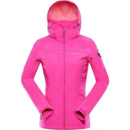 Dámská softshellová bunda ALPINE PRO Nootka 8 růžová