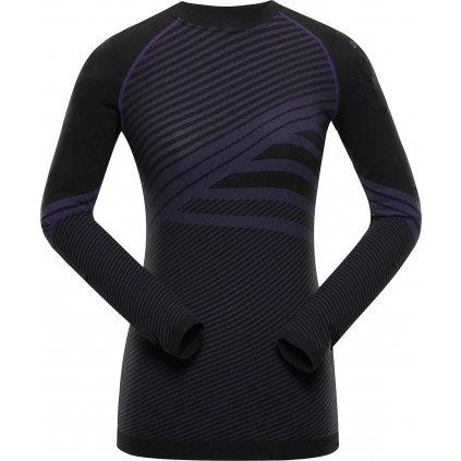 Dámské funkční triko ALPINE PRO Kriosa 4 černá/fialová