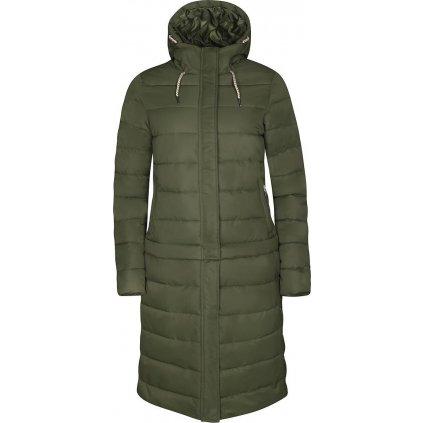 Dámský kabát/bunda ALPINE PRO Kira khaki