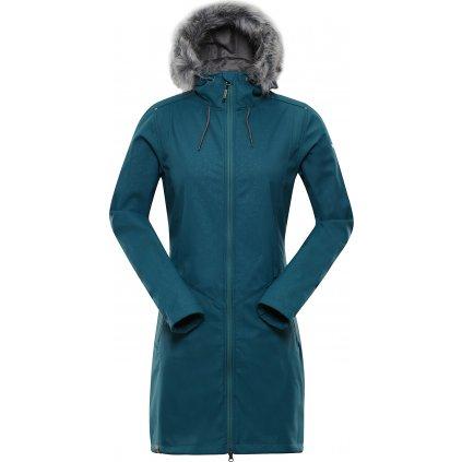 Dámský softshellový kabát ALPINE PRO Priscilla 4 Ins. tyrkysová