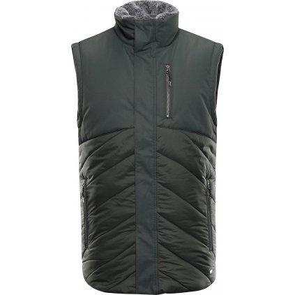 Pánská prošívaná vesta ALPINEPRO Lener khaki