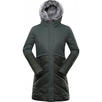Dámský zateplený kabát ALPINE PRO Tessa 4 khaki