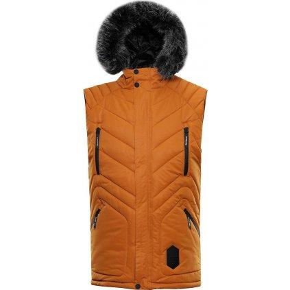 Pánská prošívaná vesta ALPINE PRO Jarvis 3 oranžová