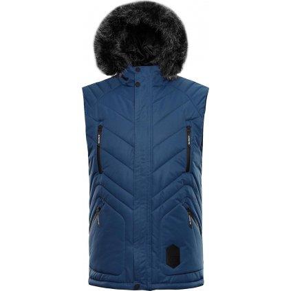Pánská prošívaná vesta ALPINE PRO Jarvis 3 modrá