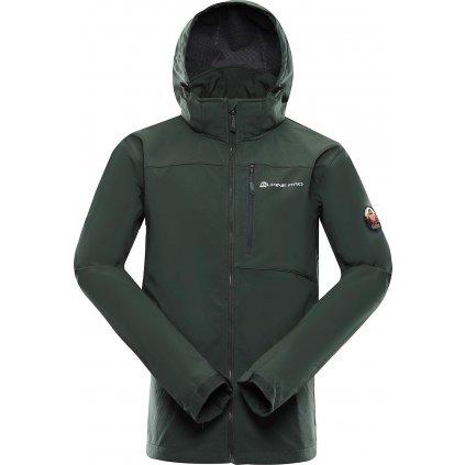 Pánská softshellová bunda ALPINE PRO Nootk 7 khaki