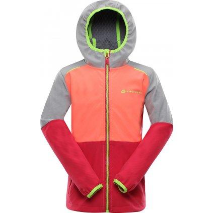 Dětská softshellová bunda ALPINE PRO Nootko 10 růžová