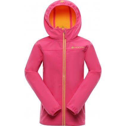 Dětská softshellová bunda ALPINE PRO Basico růžová