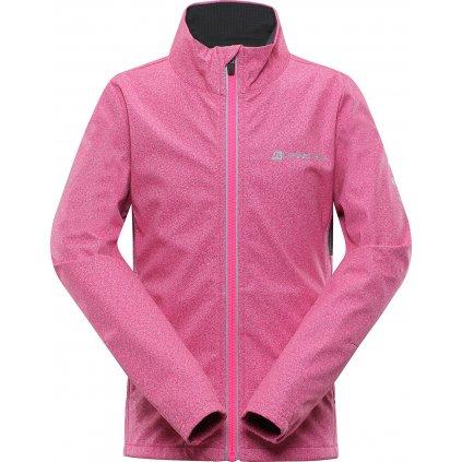 Dětská softshellová bunda ALPINE PRO Technico 2 růžová