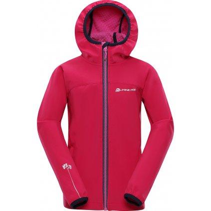Dětská softshellová bunda ALPINE PRO Nootko 8 růžová