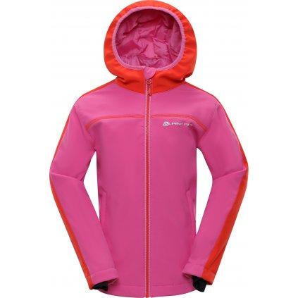 Dětská softshellová bunda ALPINE PRO Nootko 2 Ins. růžová