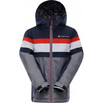 Dětská lyžařská bunda ALPINE PRO Wiremo 2 šedá