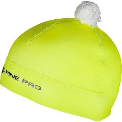 Dětská zimní čepice ALPINE PRO Polly 2 žlutá