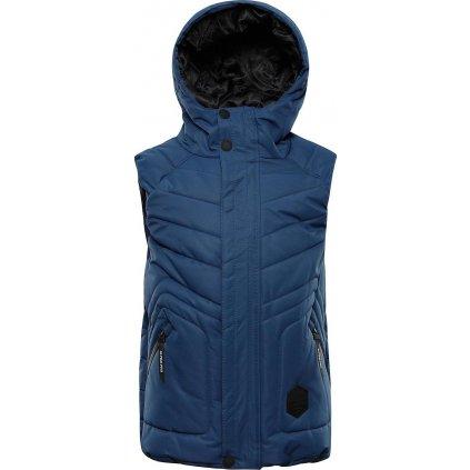 Dětská prošívaná vesta ALPINE PRO Jarviso 3 modrá