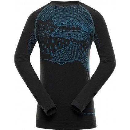 Dětské funkční triko ALPINE PRO Krioso 5 černá/modrá
