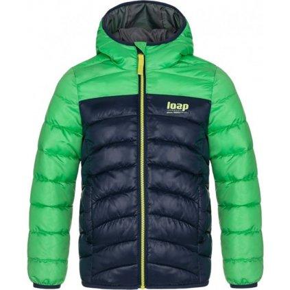 Dětská zimní bunda LOAP Inbelo zelená